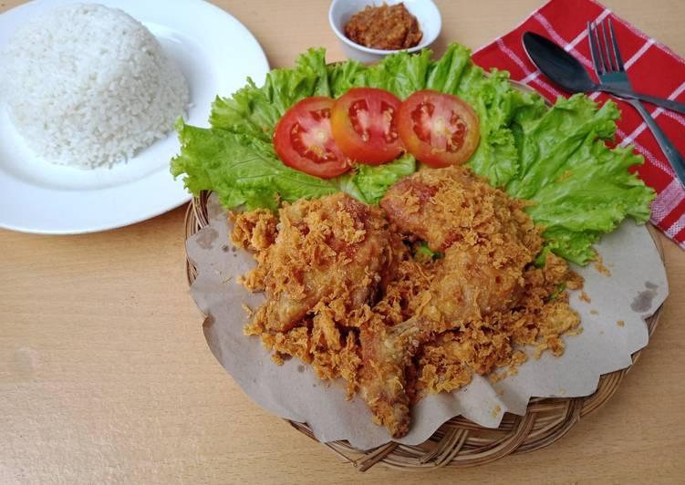 Ide Resep Ayam Goreng Kremes Ala Mbok Berek Enak Gurih Dan Empuk