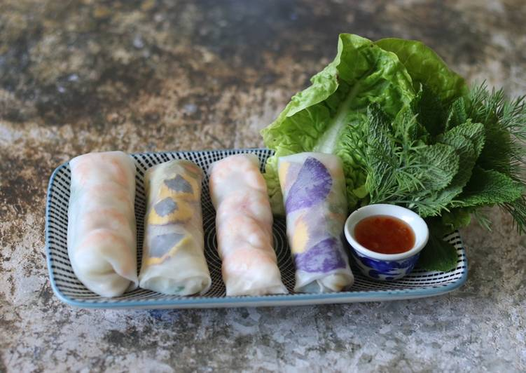 Easiest Way to Make Yummy Vietnamese summer rolls 🌈