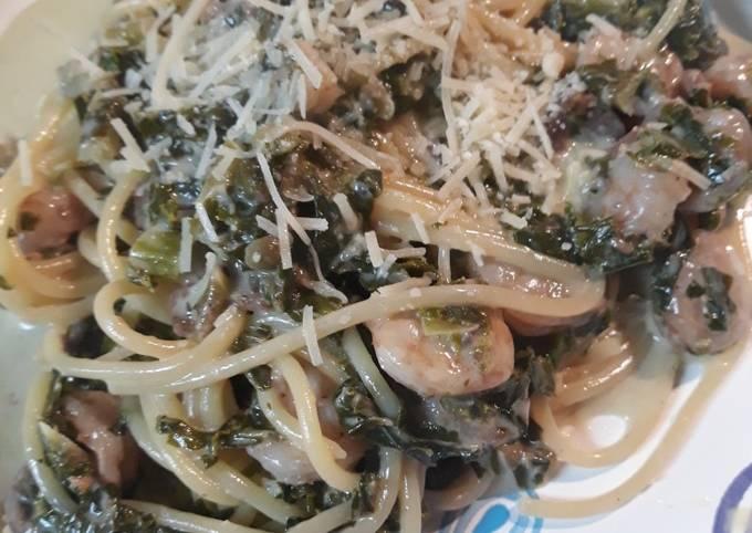 Recipe: Yummy Shrimp and Kale Pasta