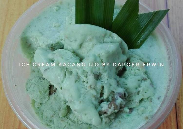 Ice cream kacang ijo dung dung