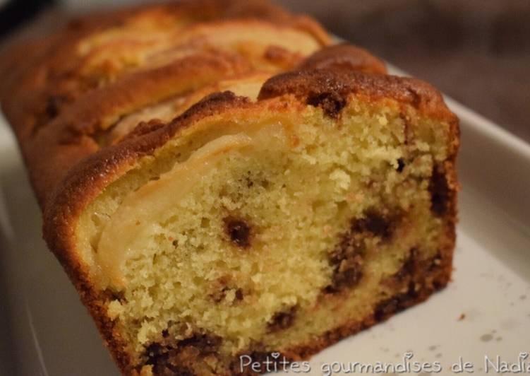 Gâteau moelleux aux poires et pépites de chocolat