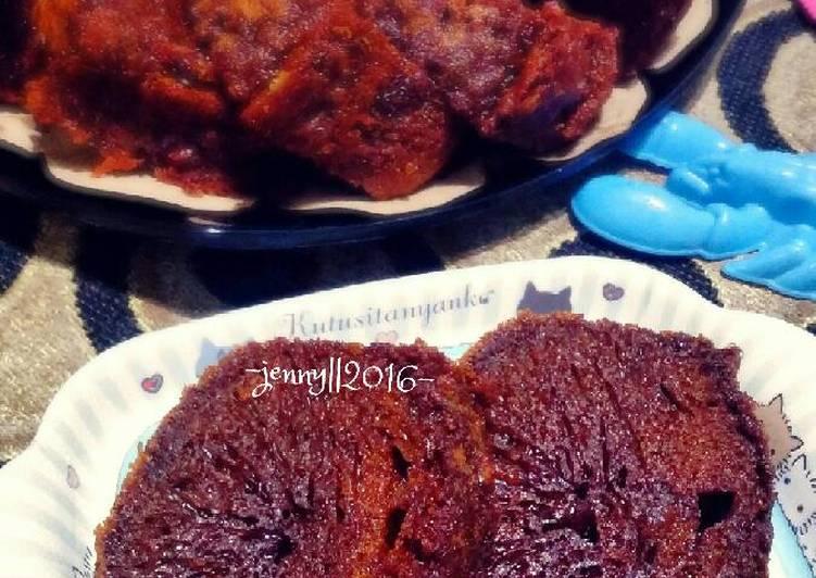 cara menyajikan Cake Sarang Semut - Sajian Dapur Bunda