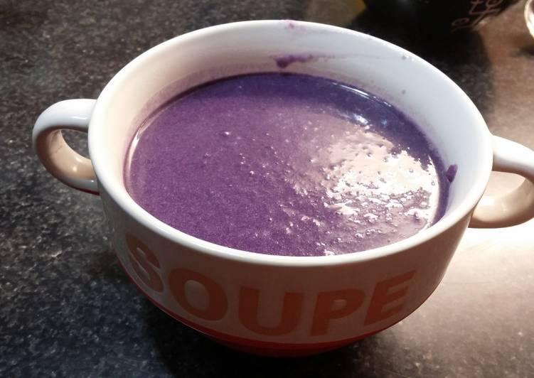 Comment Servir Soupe de chou rouge (vegan)