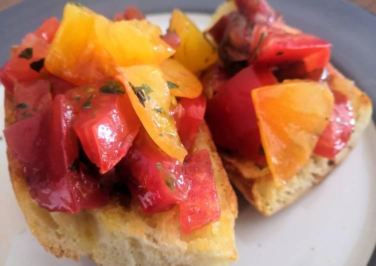 Bruschettas aux tomates