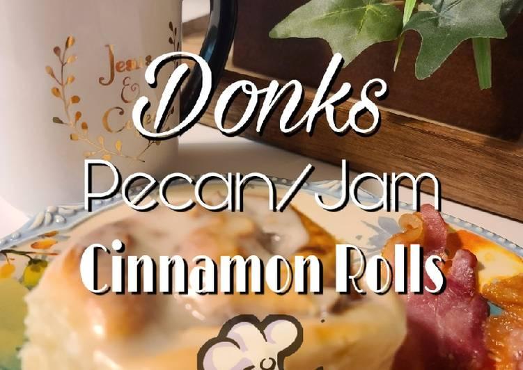 Pecan/Jam Cinnamon Rolls