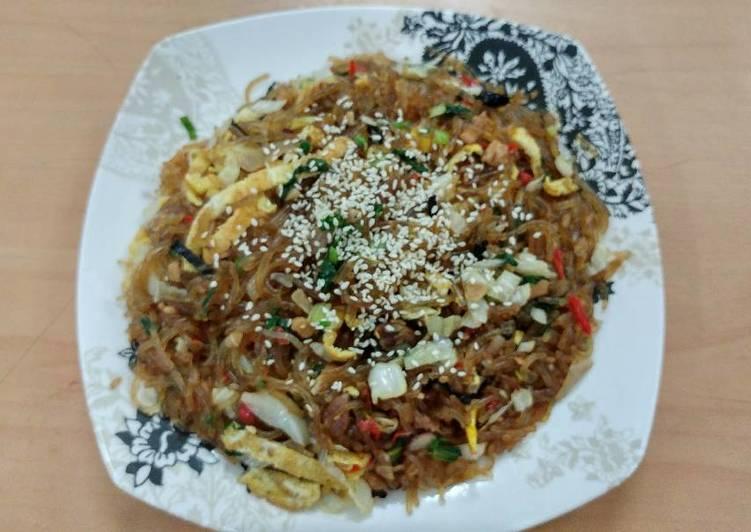 Japchae (glass noodle) Bihun Goreng Korea