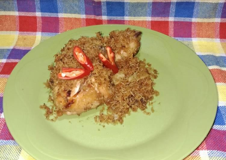 Ayam goreng serundeng kelapa (praktis)
