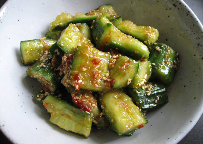 Spicy Bashed Cucumber