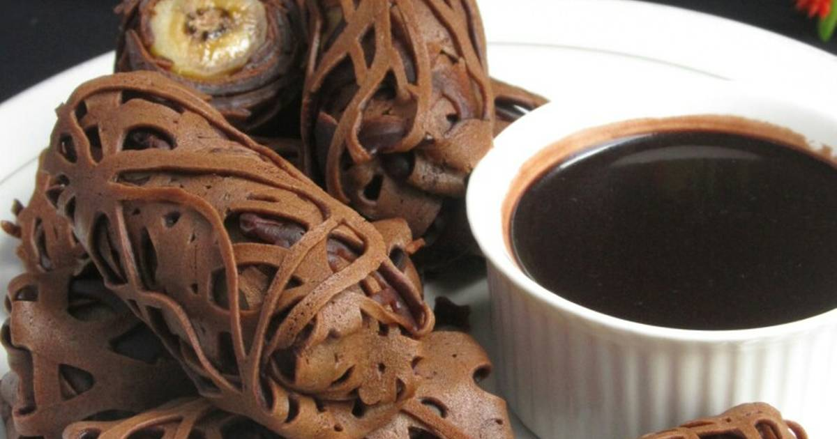 Resep Roti Jala Pisang Saus Coklat Oleh Merra Bawati Cookpad