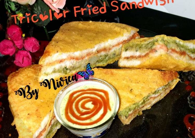Use Food to Elevate Your Mood Tricolour fried Sandwish