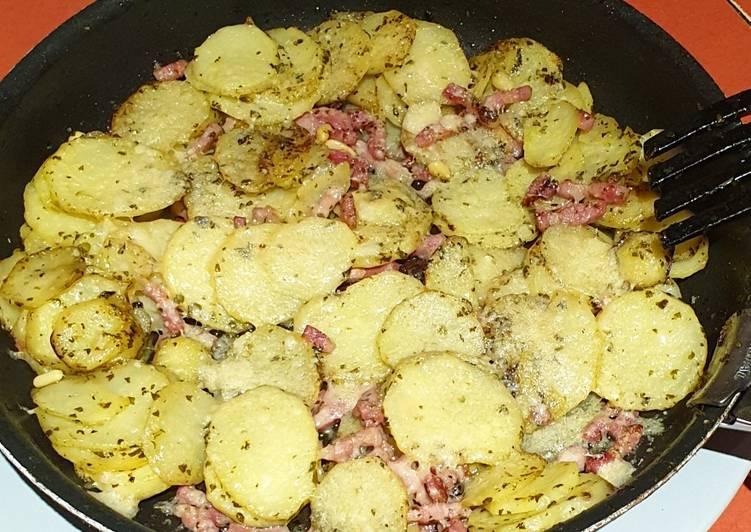 Pommes de terre pesto/ parmesan
