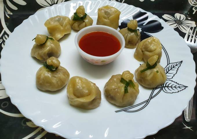 Steamed Chicken Money Bags and Wontons