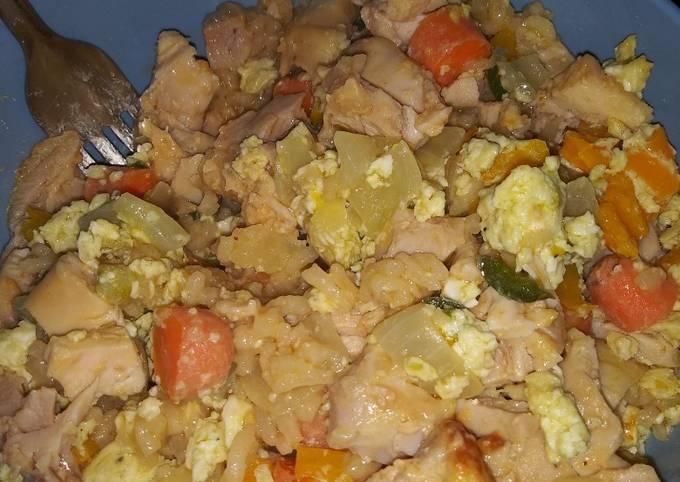 Yum yum chicken & spicy fried rice