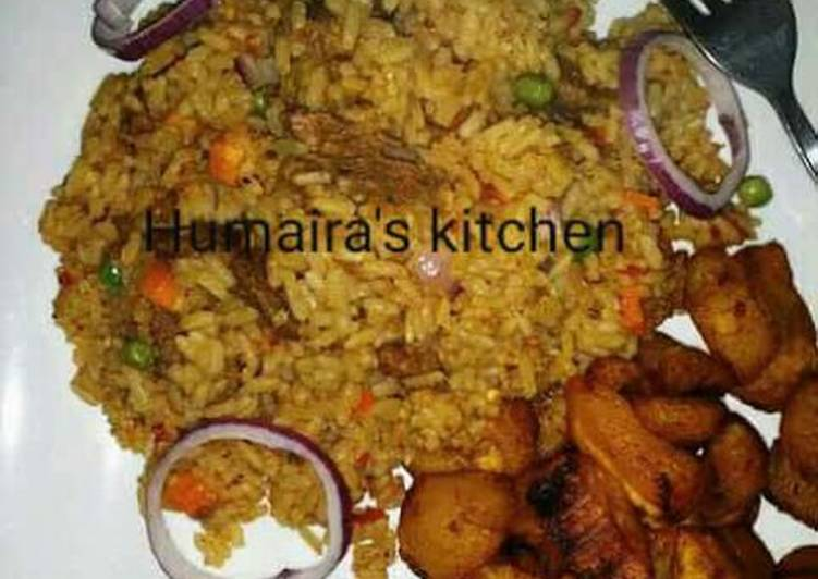 Rice with plantain