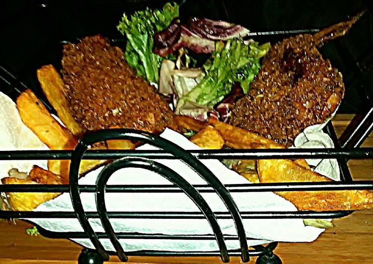 Tex's Classic British Pub Chicken in a Basket 🇬🇧🍗🍟🍲