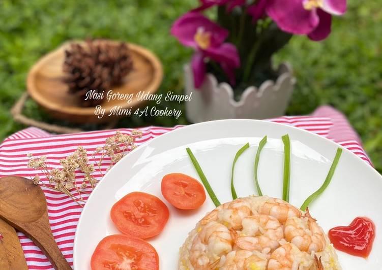 Nasi goreng udang simpel (untuk anak2)
