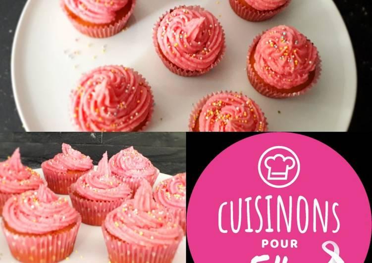 Recette Des Cupcakes roses à la Vanille