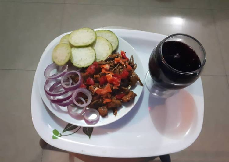 Steps to Make Perfect Ugba with Goat meat