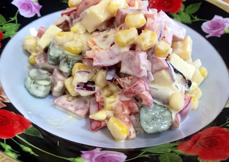 Салат Мексика - пошаговый рецепт с фото. Автор рецепта Andrey Yelizarov ✈ .  - Cookpad