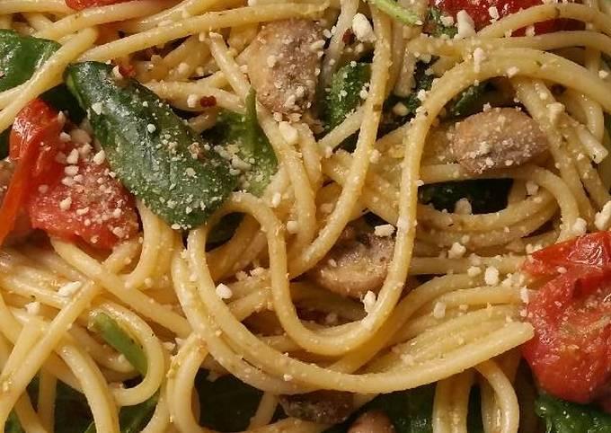 Easiest Way to Make Tasty Vickys Veggie Pesto Spaghetti, GF DF EF SF NF
