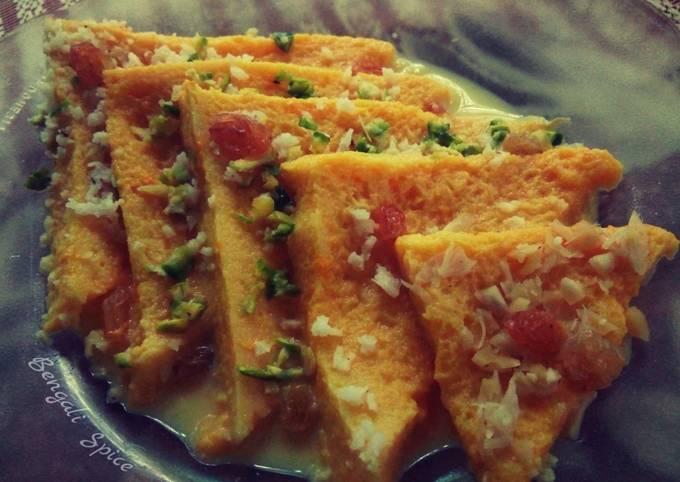 Mango Shahi Tukda (fusion Indian dessert) 💛