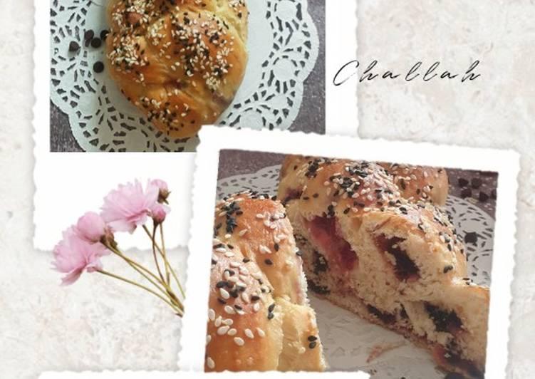 Challah Isi Strawberry dan Coklat