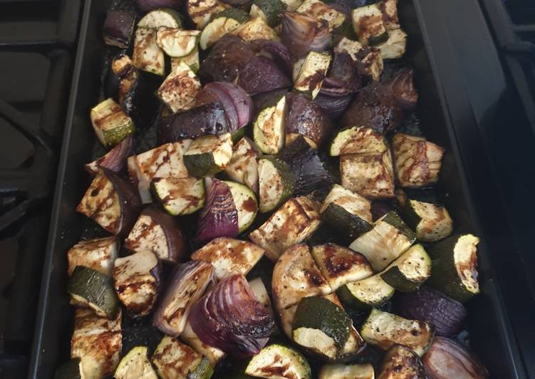 Easiest Way to Cook Delicious Balsamic Glazed Vegetables