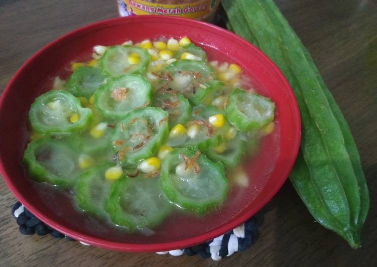 Resep Sayur oyong (gambas) jagung Yang Gampang Pasti Sedap