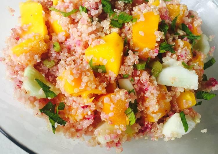 Jamun infused Quinoa and Mango Salad