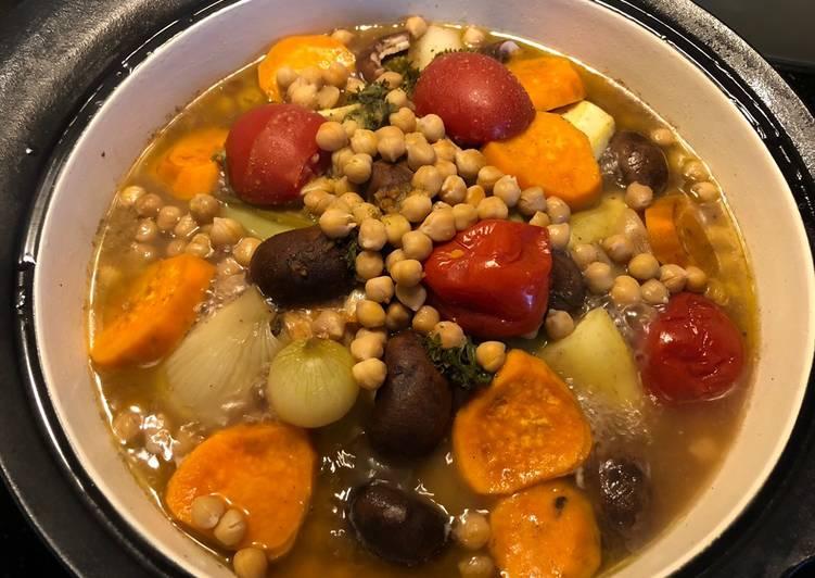 Gemüse-Poulet Tajine