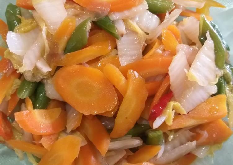 41.Tumis sawi putih wortel