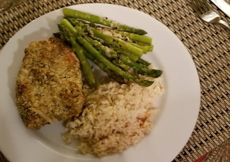 Spicy Parmesan-Dijon Crusted Pork Chops