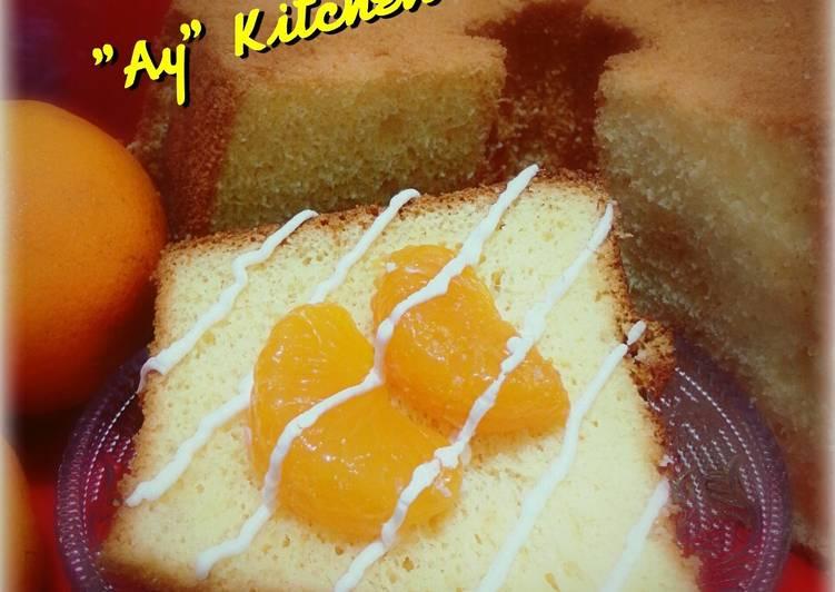 Orange Chiffon Cake 🍊🍰