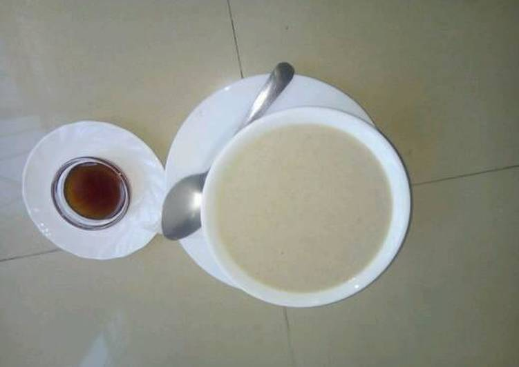 Recipe of Award-winning Ground nuts, Cassava, Yam and Arrow root 'soup' porridge