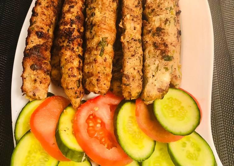 5 Minute Recipe of Royal Beef seekh kabab