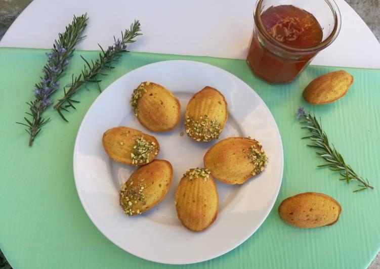 Madeleines safran-citron