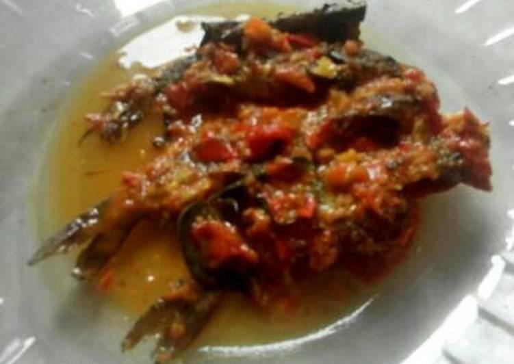 Ikan Keting bumbu rujak