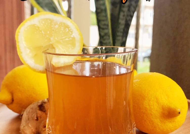 Soothing Lemon Ginger Juice - resepipouler.com