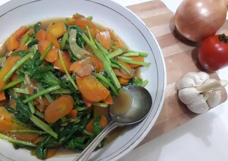 Tumis sawi wortel