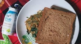 Hình ảnh món Bữa sáng với bánh mì đen trứng ngải cứu
