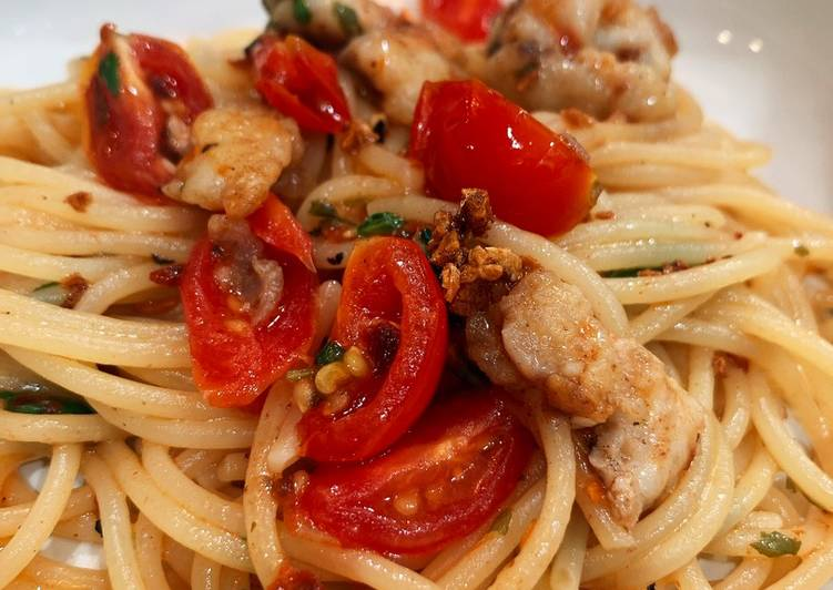 The Best Soft and Chewy Dinner Ideas Autumn Red snapper and tomato aglio e olio