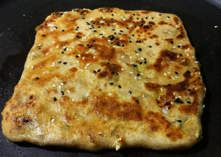 Mushroom stuffed parantha in the shahi style