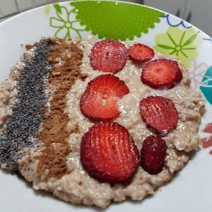 Tazón energetico para merienda o desayuno saludable