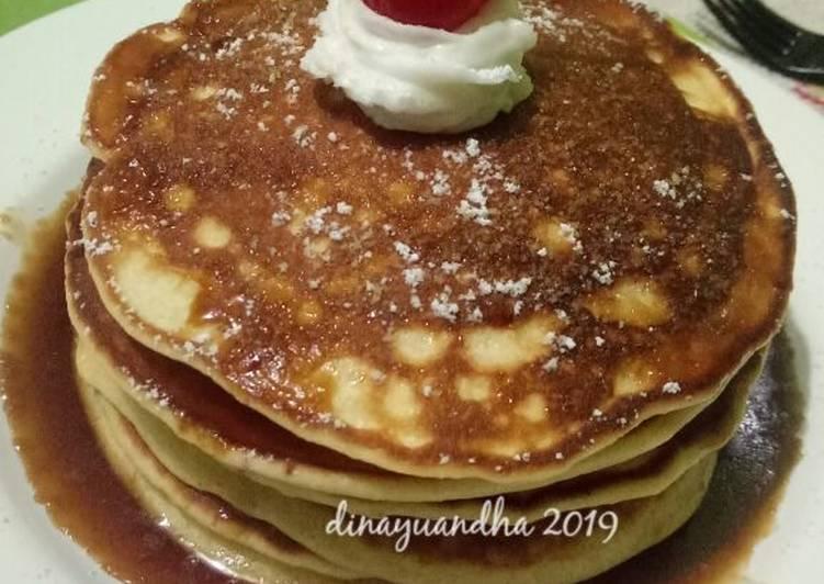 Fluffy Pancake dan Syrup Caramel Homemade