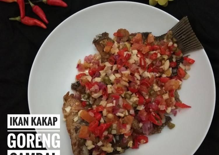 Ikan kakap goreng sambal dabu