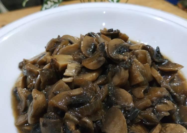 Jamur champignon saus teriyaki