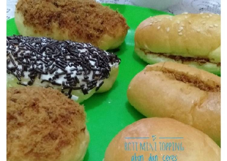 Roti mini topping abon dan ceres