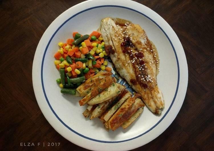 Steak Ikan Saus Teriyaki