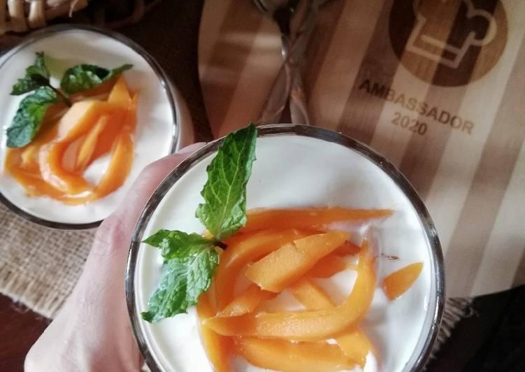 Steps to Make Speedy Mango jello delight