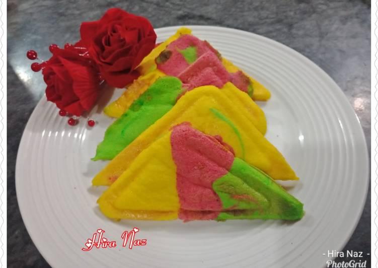 3 Colour Cake In sandwich Maker